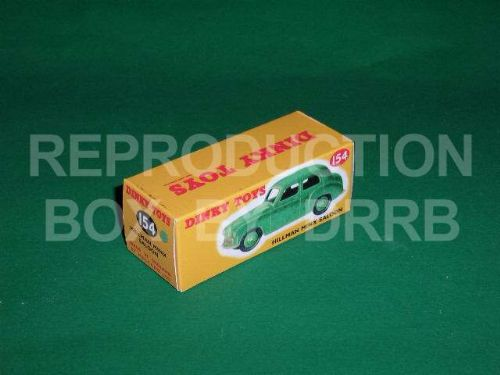 Dinky #154 Hillman Minx - Reproduction Box ( Light Green )